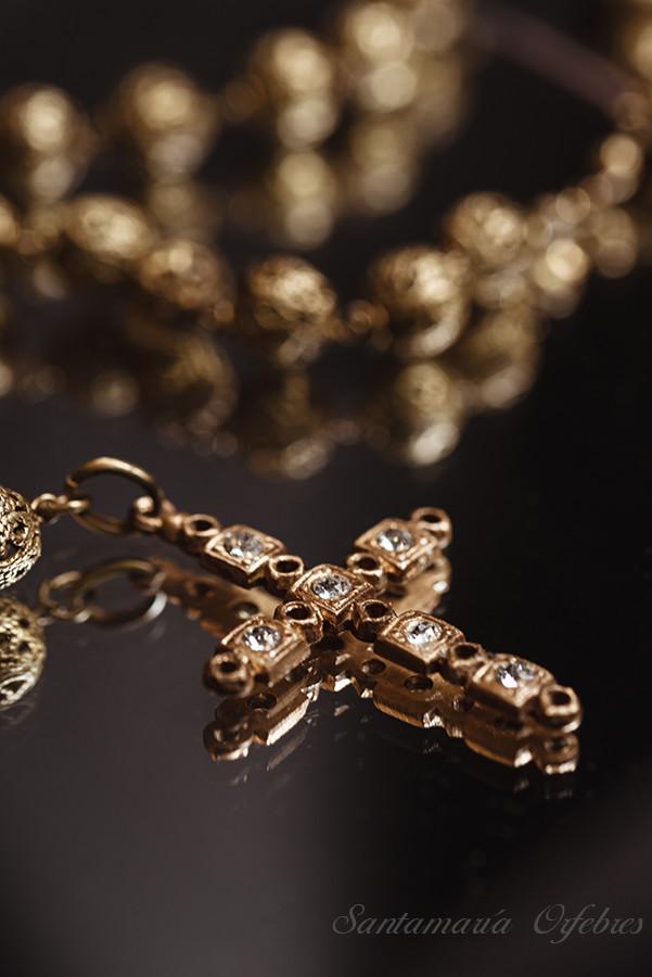 Pendentif Princesa, montado en espejuelo collar perlas cultivadas.