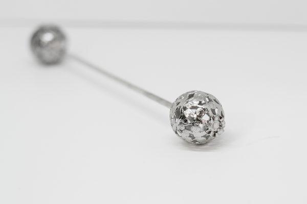 Pincho bolas plata